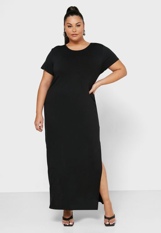 Double Split T-Shirt Dress