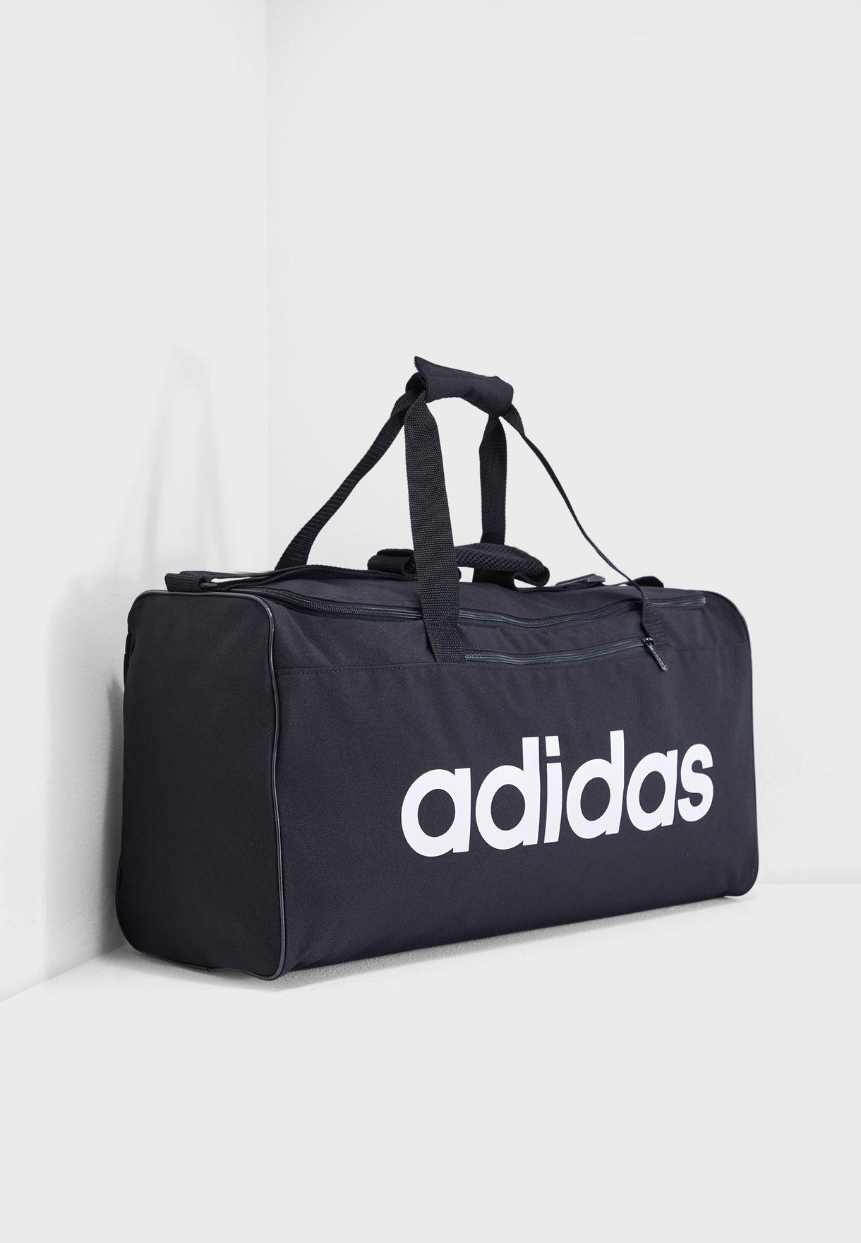 be0144115eb4 Shop adidas black Medium Linear Core Duffel DT4819 for Men in UAE ...