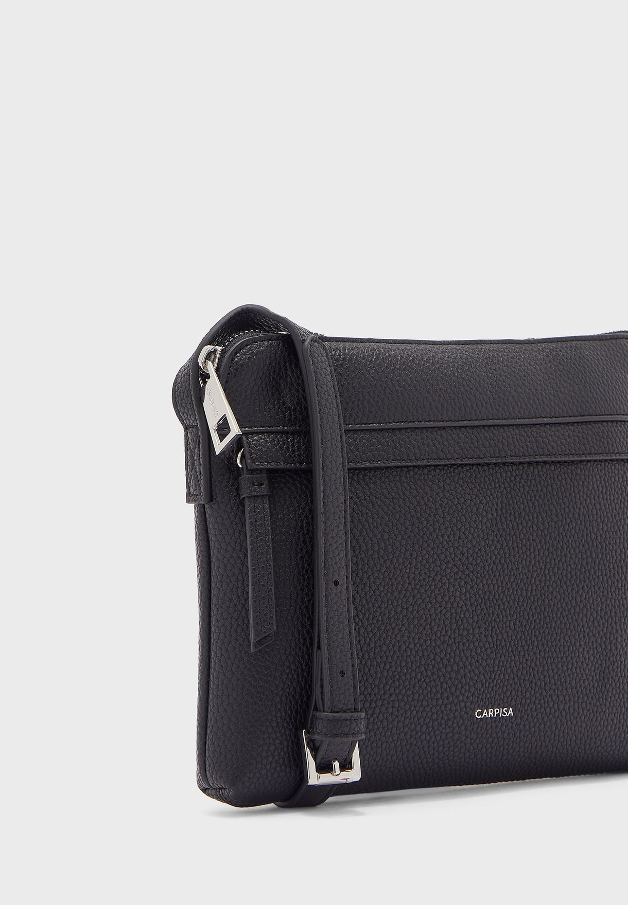 Front Zip Detail Crossbody