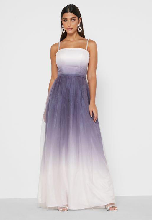 فستان مطبع بسحاب جانبي