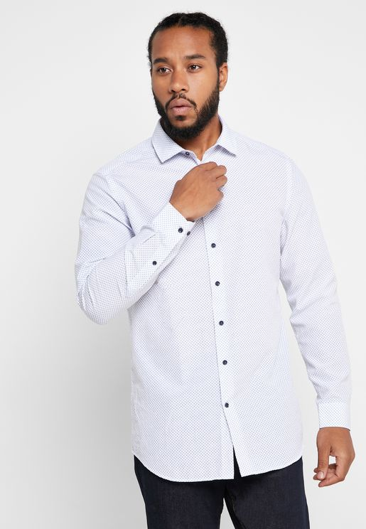 Micro Print Slim Fit Shirt