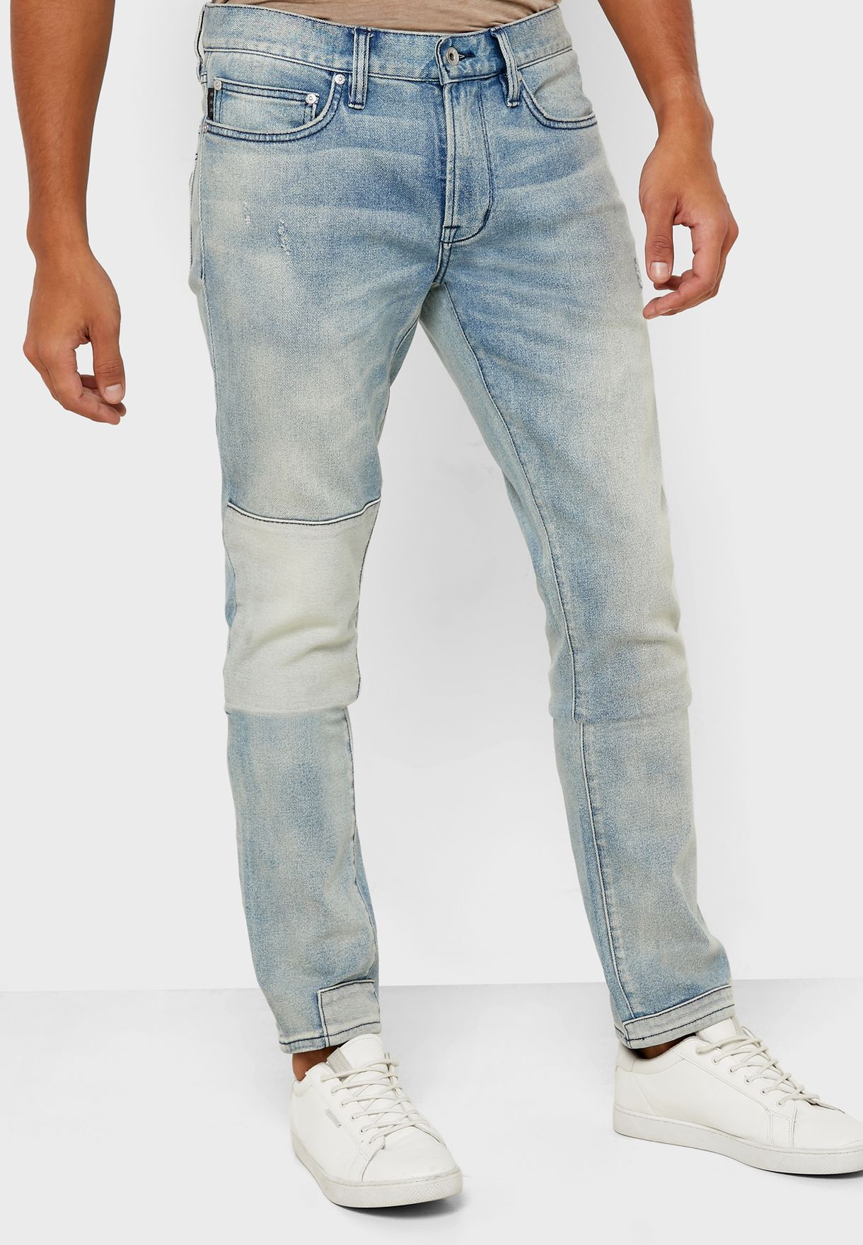 Wight Skinny Fit Light Wash Jeans