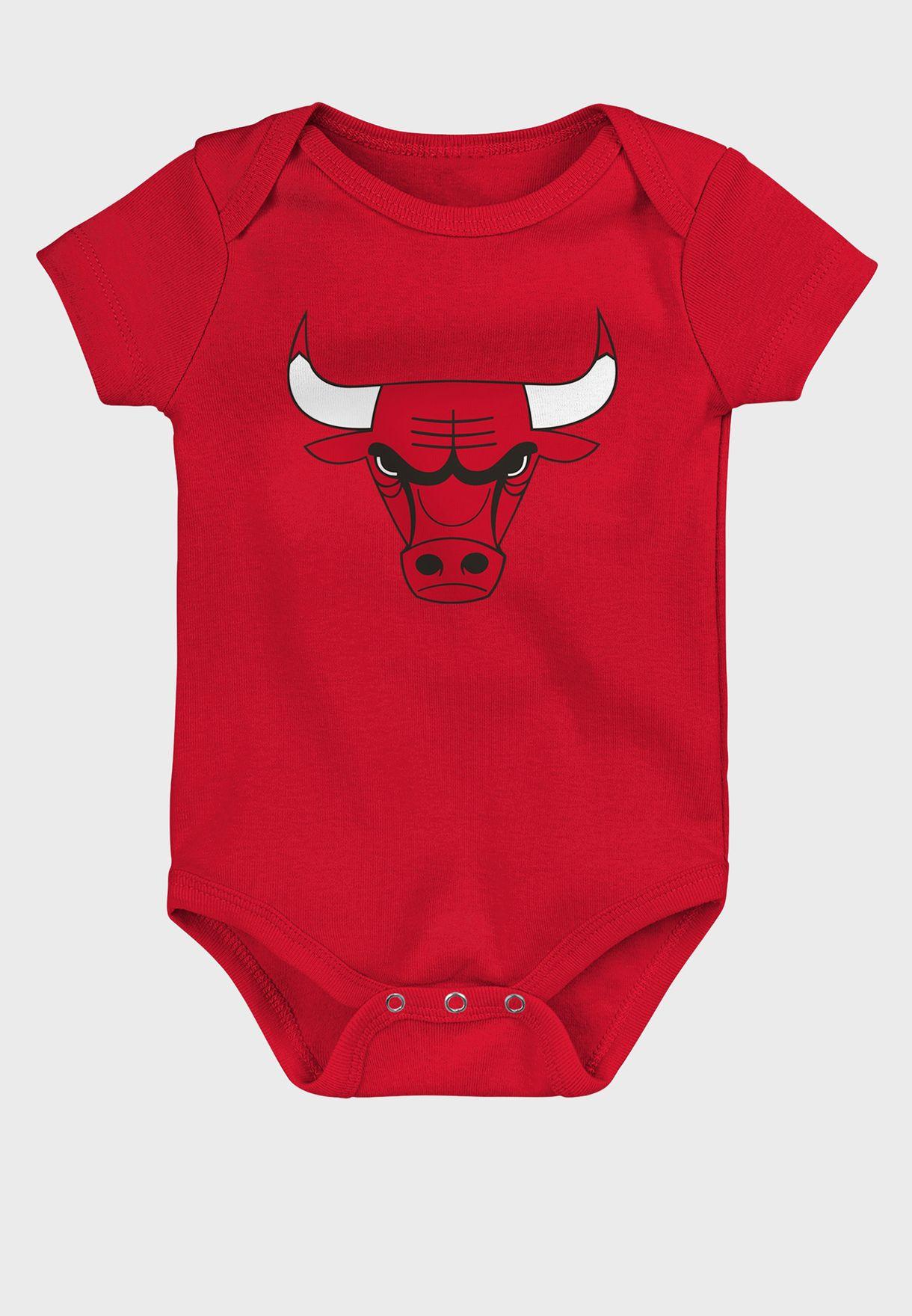 Infant 3 Pack Chicago Bulls Born To Win Bodysuit