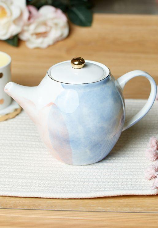 Colour of Paradise Hand Painted Porcelain Teapot