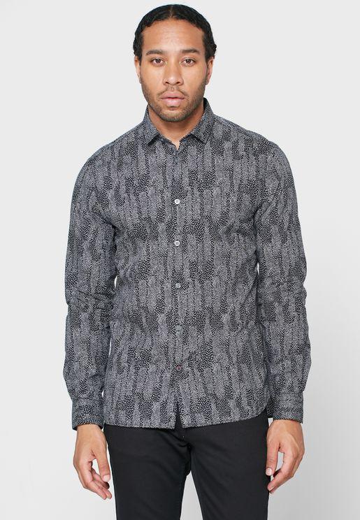Fulton Abstract Print Regular Fit Shirt