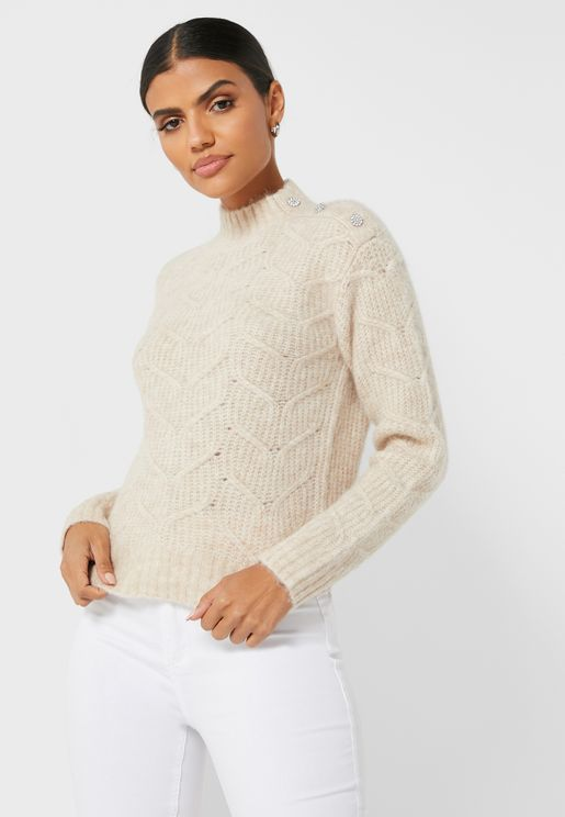 Taliiey Button Detail Sweater