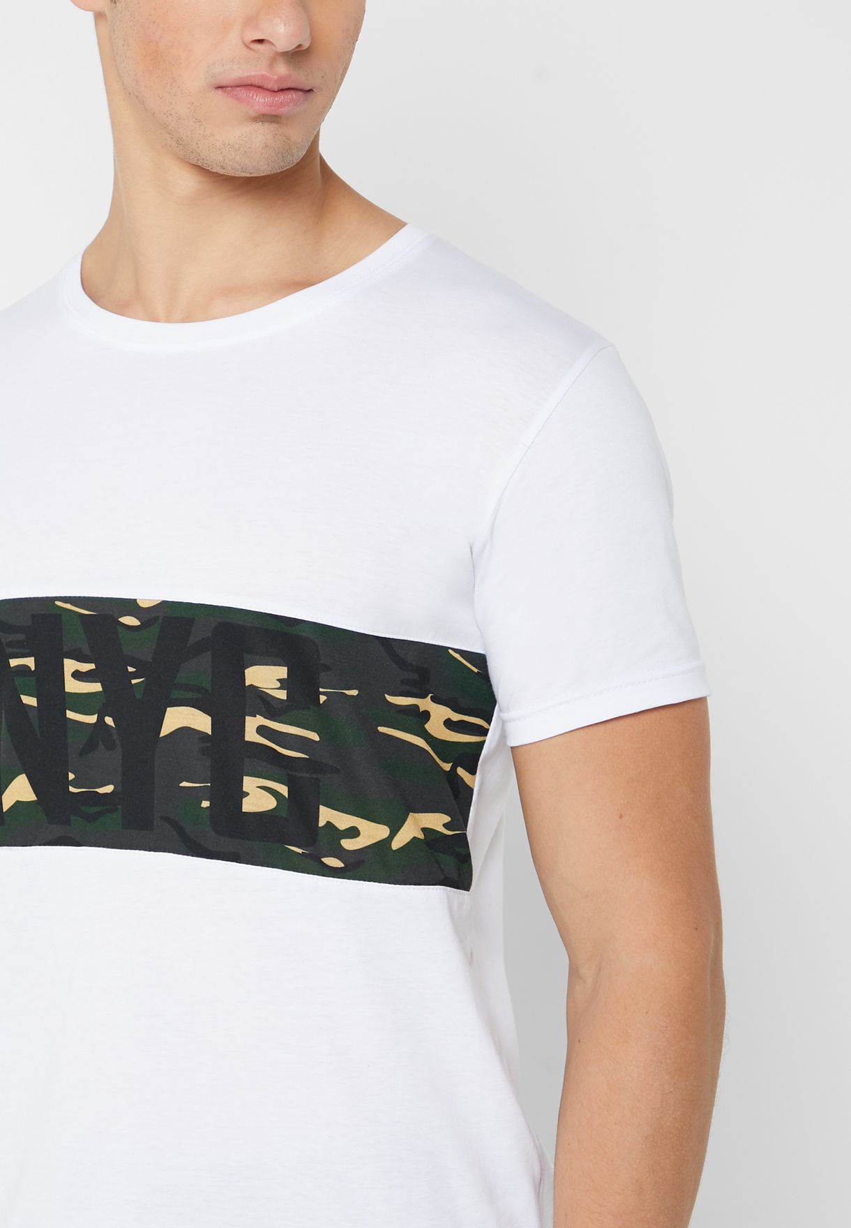 NYC Camo Crew Neck T-Shirt
