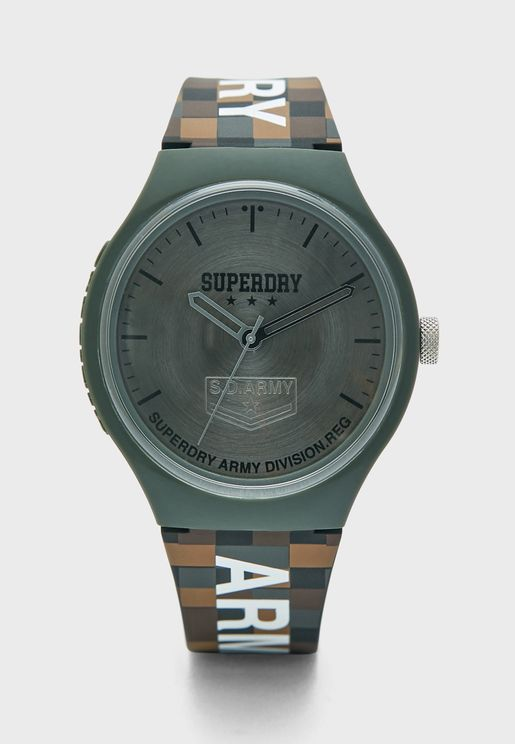 ساعة عصرية بحزام سيليكون