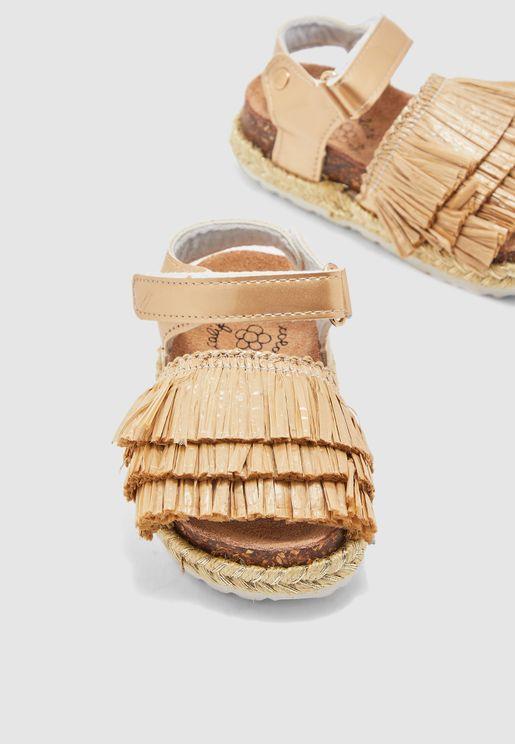 Kids Fringe Detail Sandal