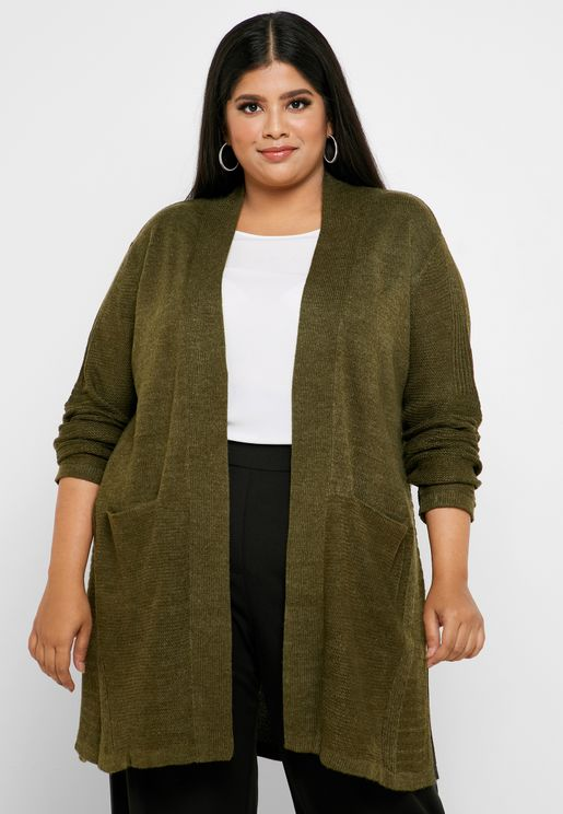 Longline Side Split Cardigan