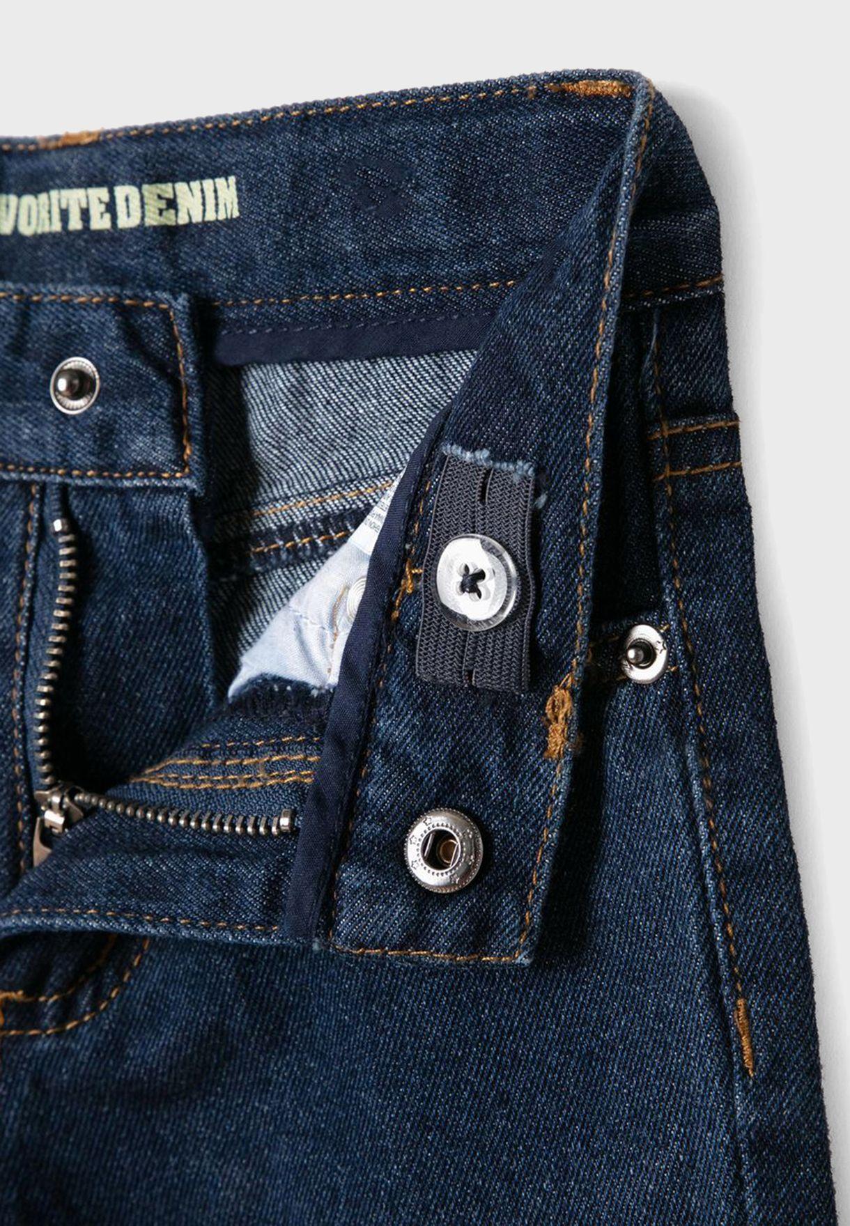 Kids Dark Wash Straight Jeans