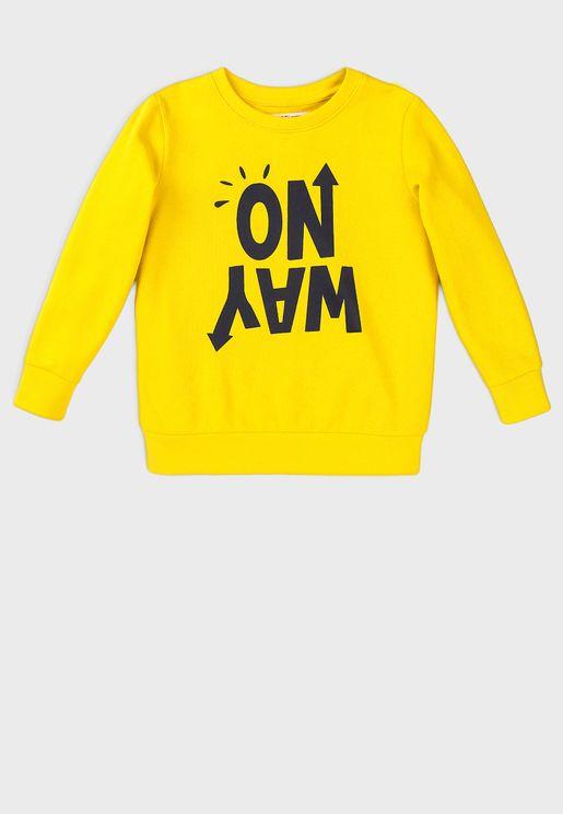 Teen Basic Fleece Crew Sweatshirt