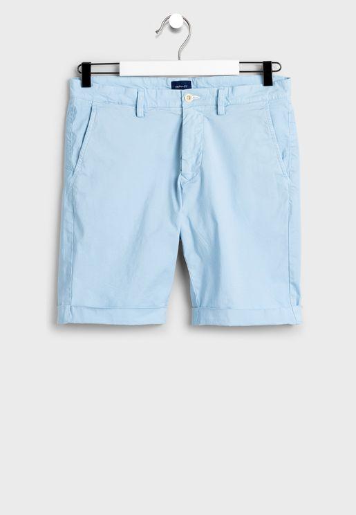 Sunfaded Roll Hem Shorts
