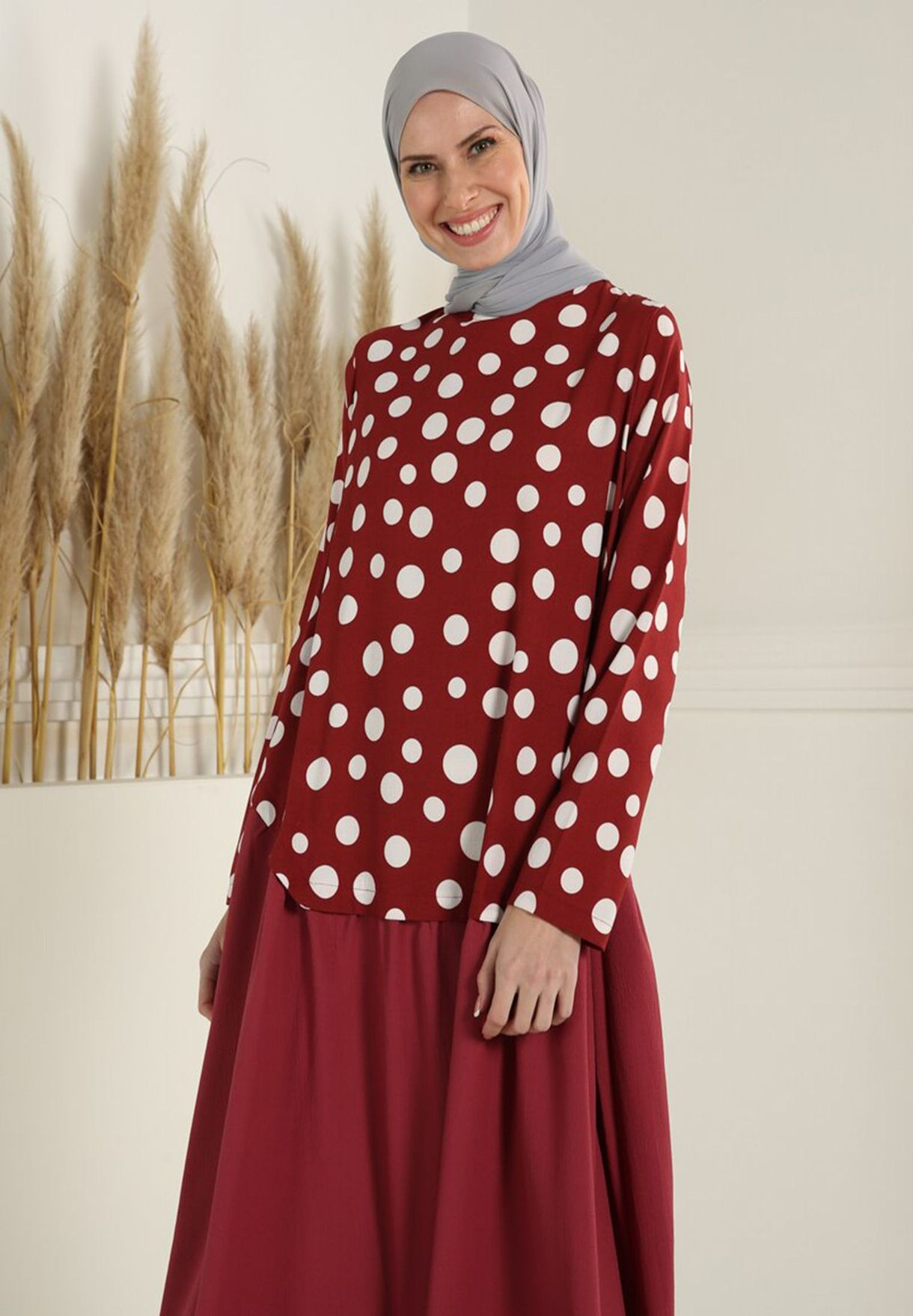Belted Polka Dot Dress