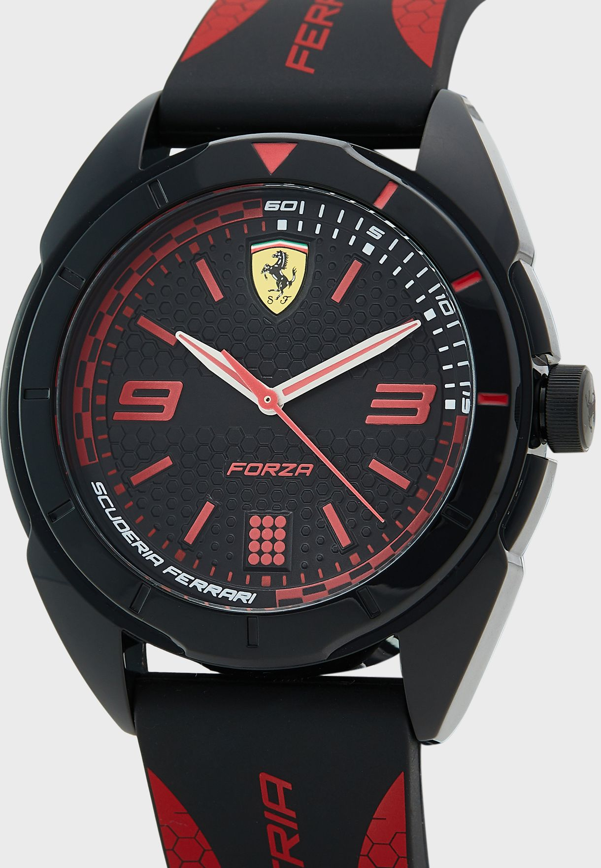 Round Silicone Strap Analog Watch