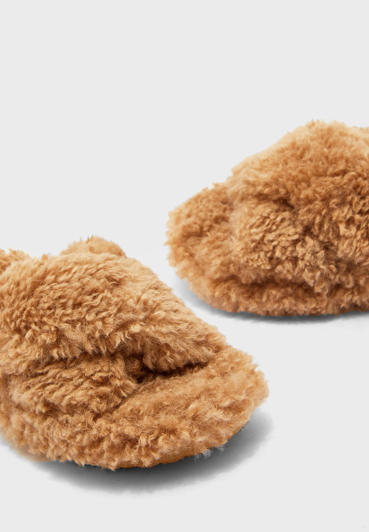 Pillow Cross Strap Bedroom Slippers