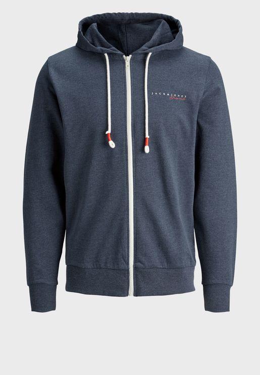 Essential Regular Fit Zip Through Hoodie