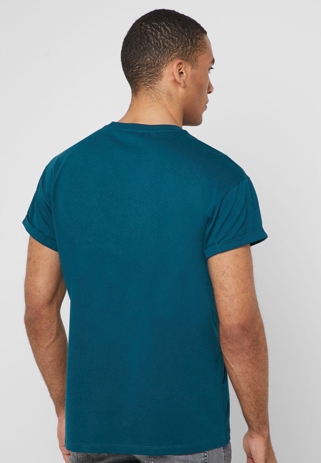 Cali La Embroidery Crew Neck T-Shirt