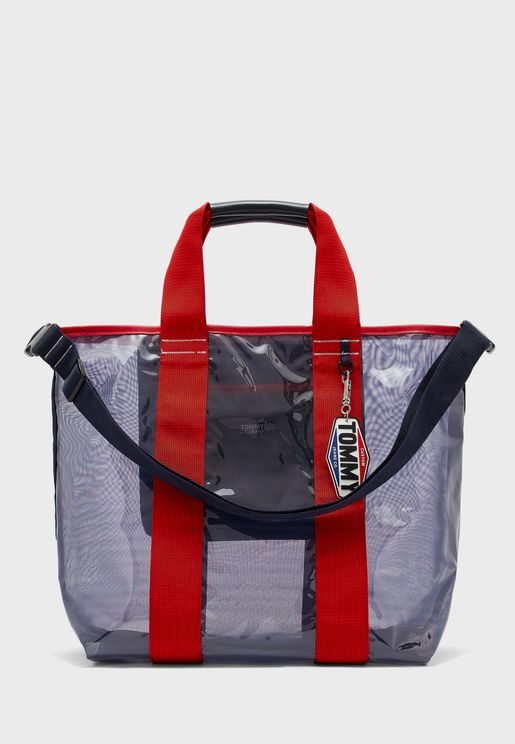 Double Handle Transparent Tote