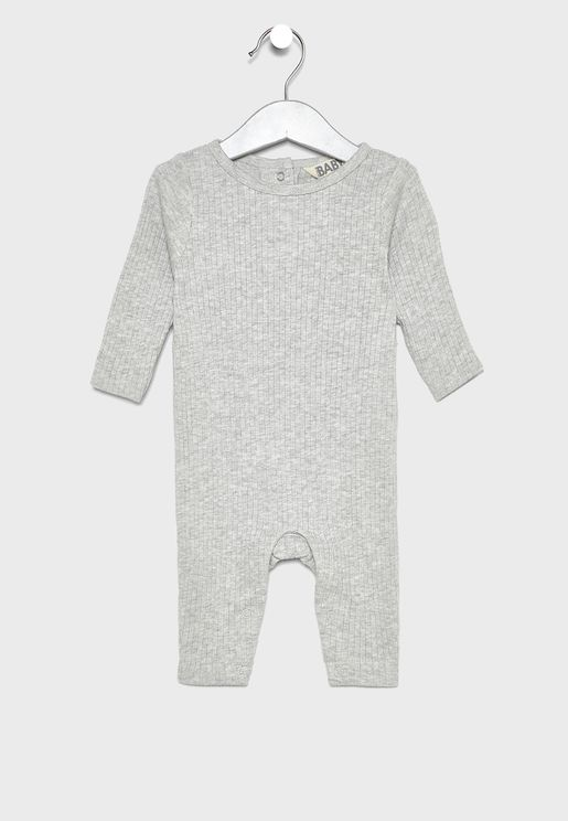 Infant Rib Snap Romper