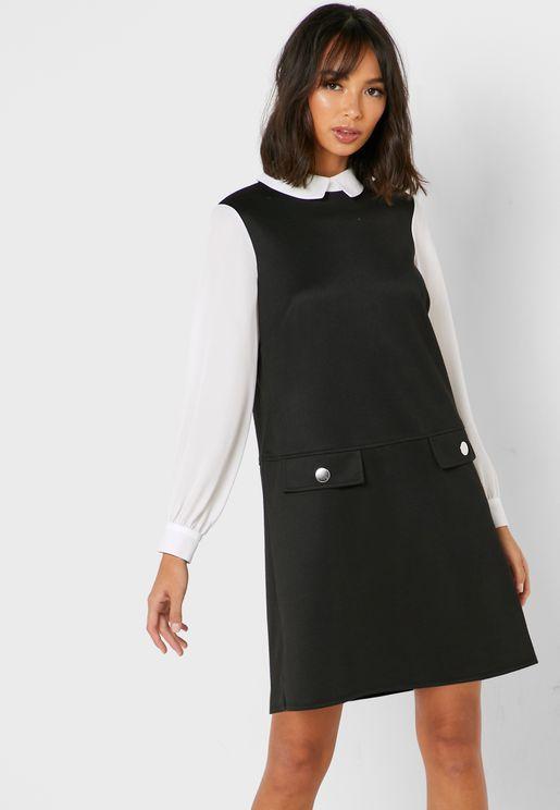 Pocket Detail 2 In 1 Dress