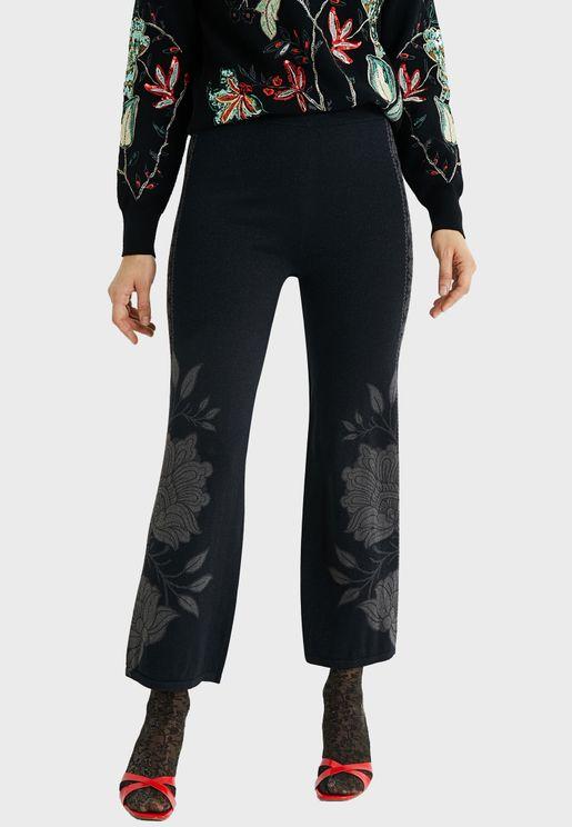 Printed High Waist Pants