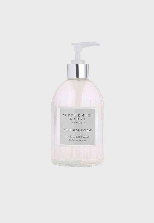 Fresh Sage & Cedar Hand & Body Wash - 500Ml