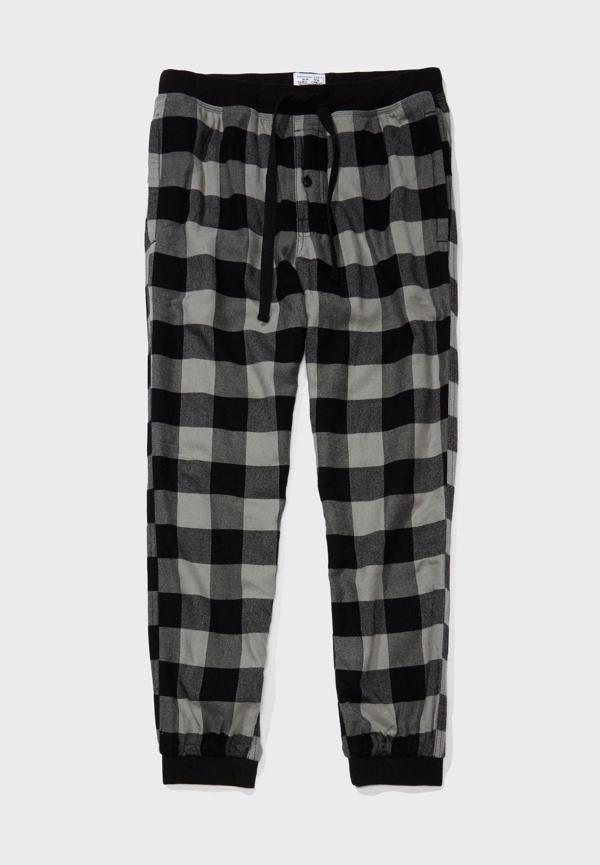 Checked Cuffed Sweatpants