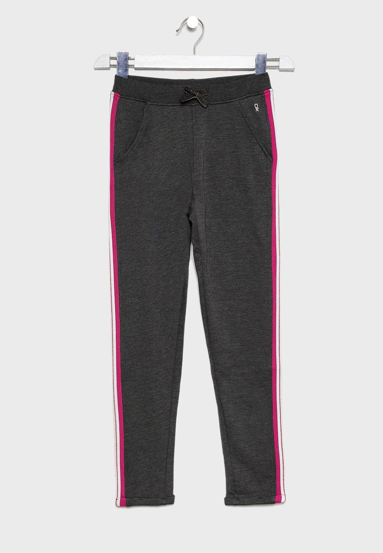 Kids Striped Trim Sweatpants