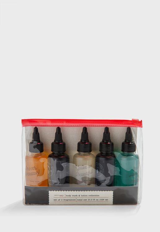 Mini Body Wash And Lotion Set