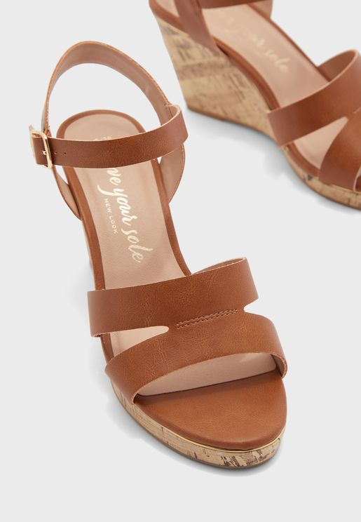 Wide Fit Possum Ankle Strap Sandal