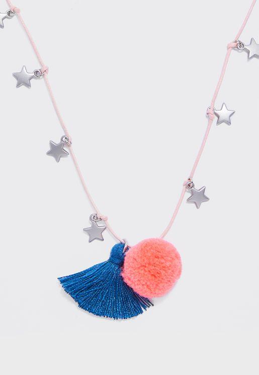 Kids Stars Tassel Necklace