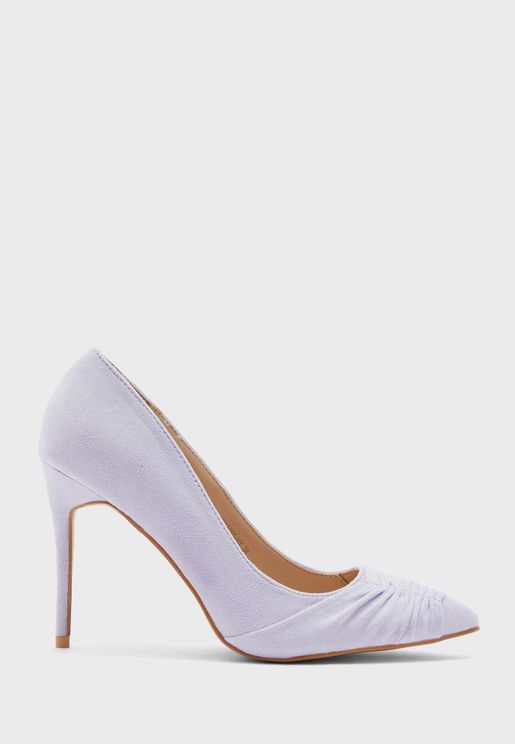 Ruched Front Pointed Stiletto Pump