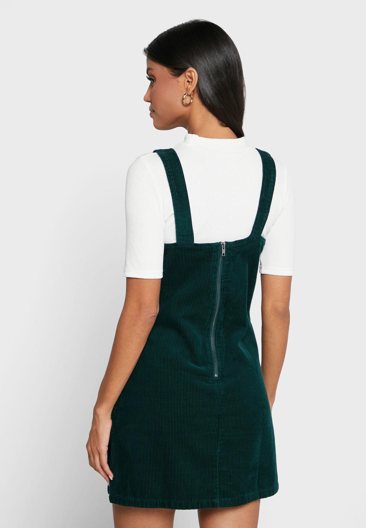 فستان ميني بياقة مربعة