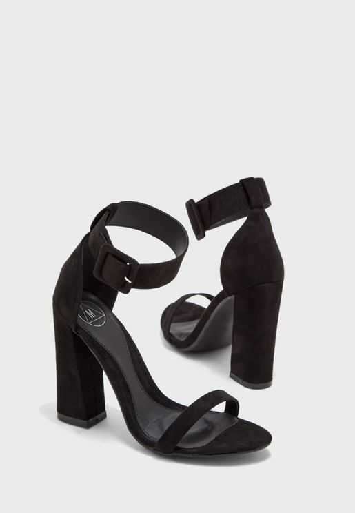 Ankle Strap High Block Heel