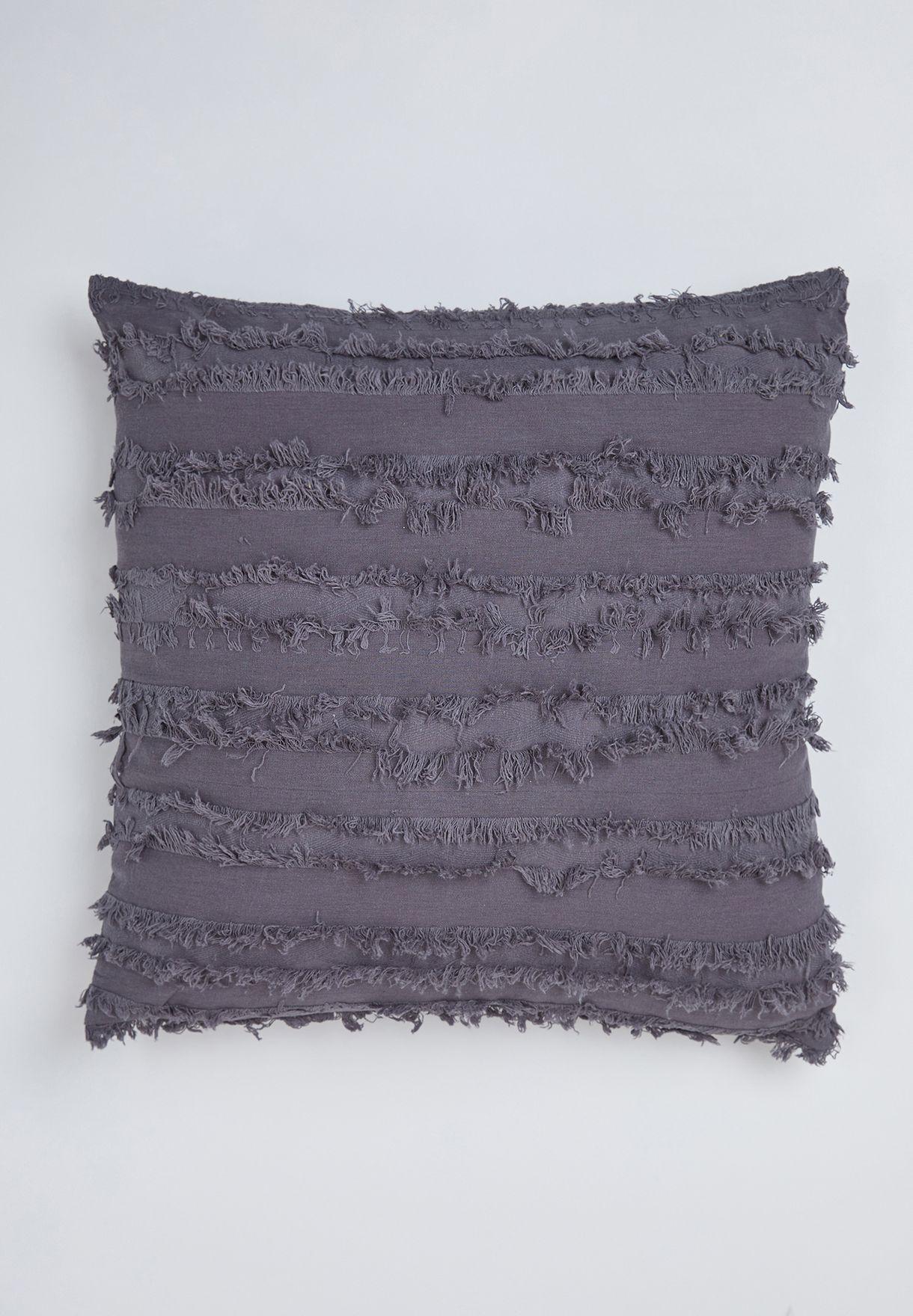 Ruffle Navy Cushion