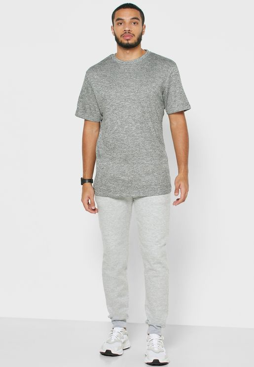 T Shirt & Cuffed Bottoms Pyjama Set