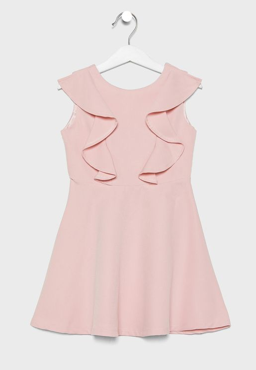 Kids Ruffle Detail Dress
