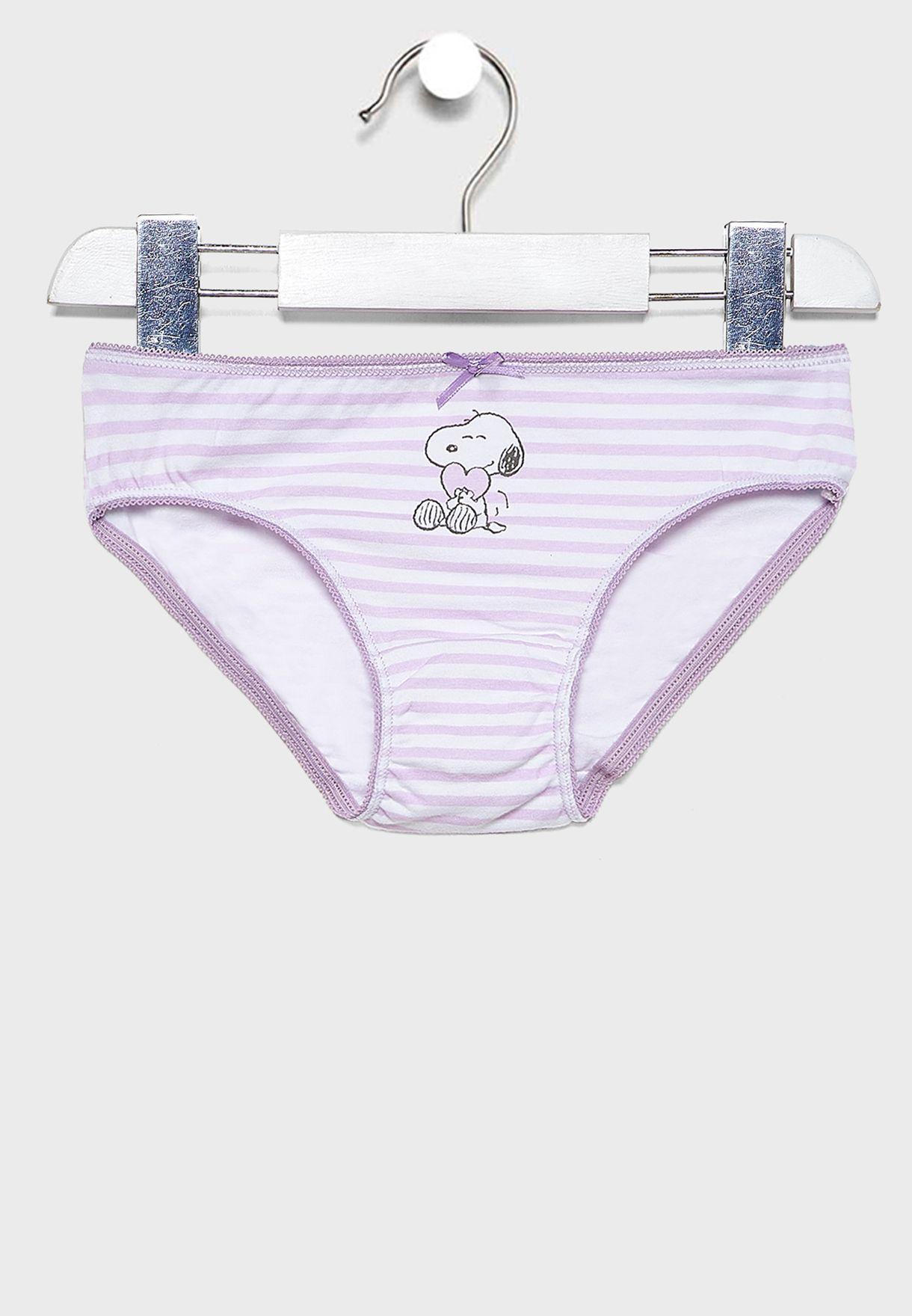 Kids 3 Pack Snoopy Brief