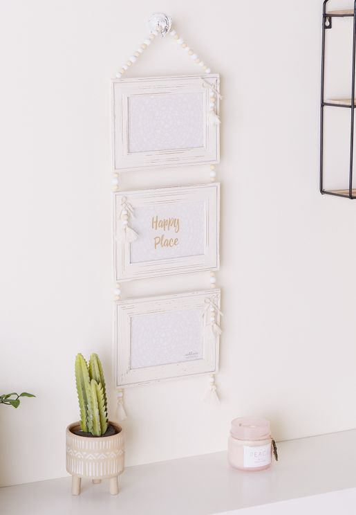 3 Pack Photo Frame With Tassel