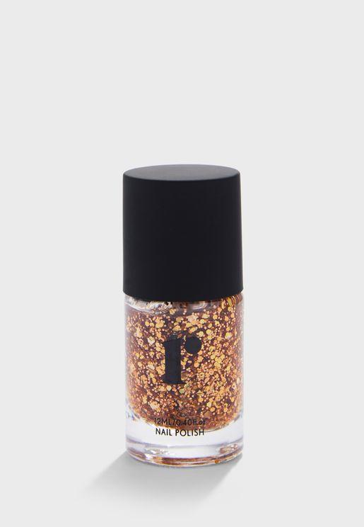 طلاء اظافر - ذهبي براق