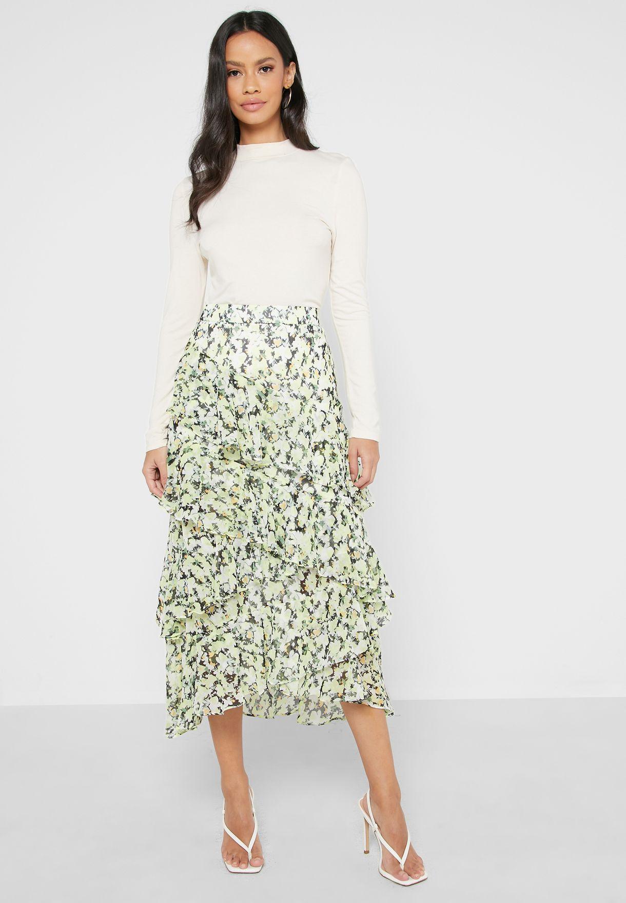 Zendeya Floral Midaxi Skirt