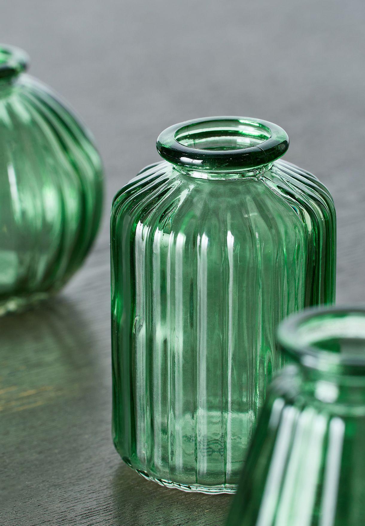مجموعة هدايا من 3 مزهريات زجاجية للبذور