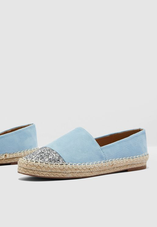 Espadrilles With Glitter Toe