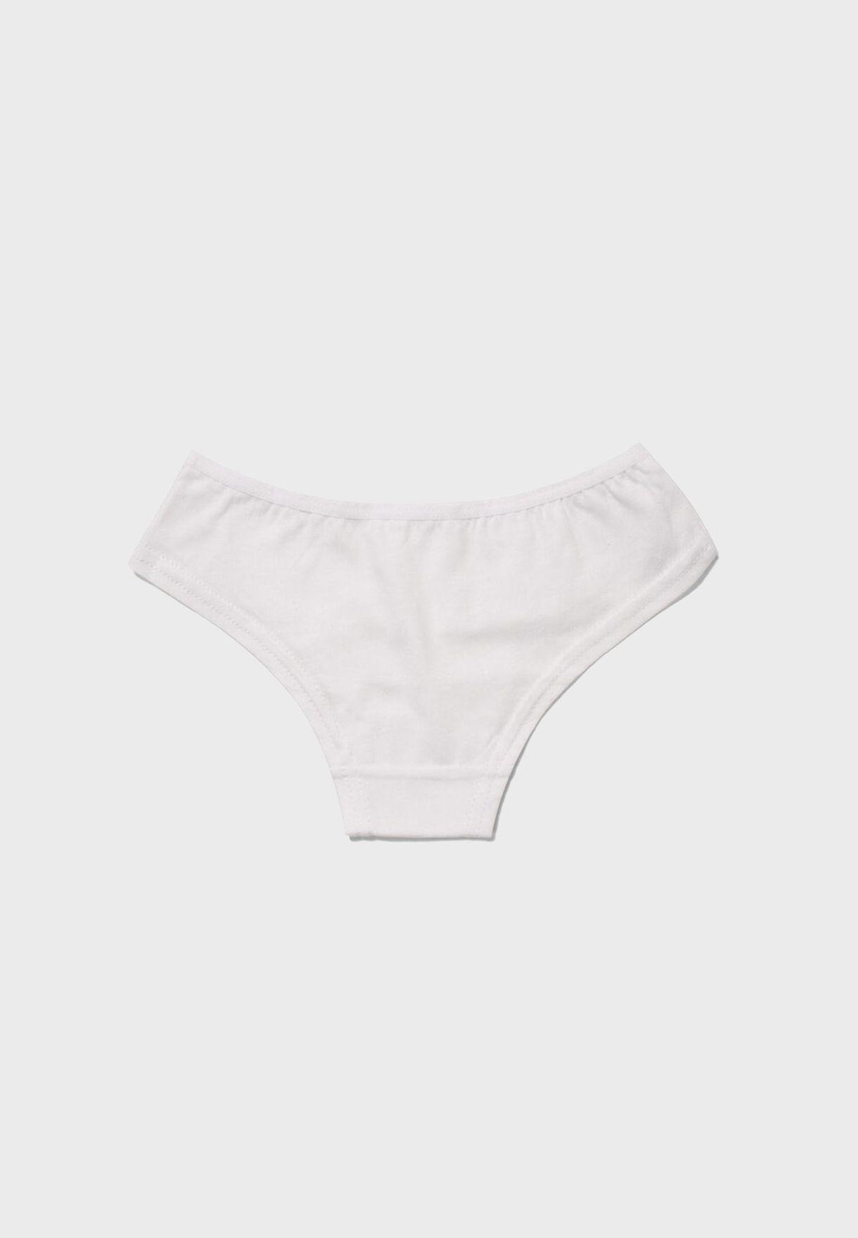 Kids 3 Pack Knot Detail Underwear