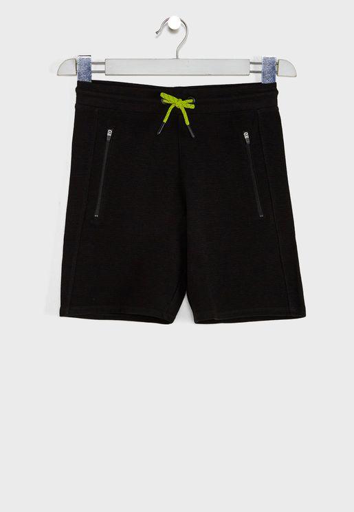 Kids Zip Pocket Shorts