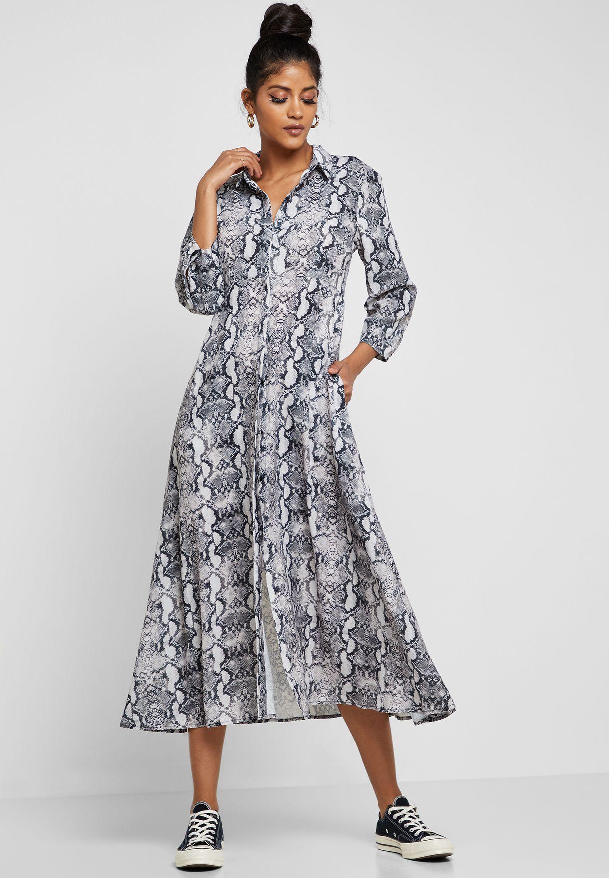Shop Ginger prints Snake Print Shirt Midi Dress CLT2019113 for Women in  Saudi - 11096AT68LKP 6e3e1ca1d28