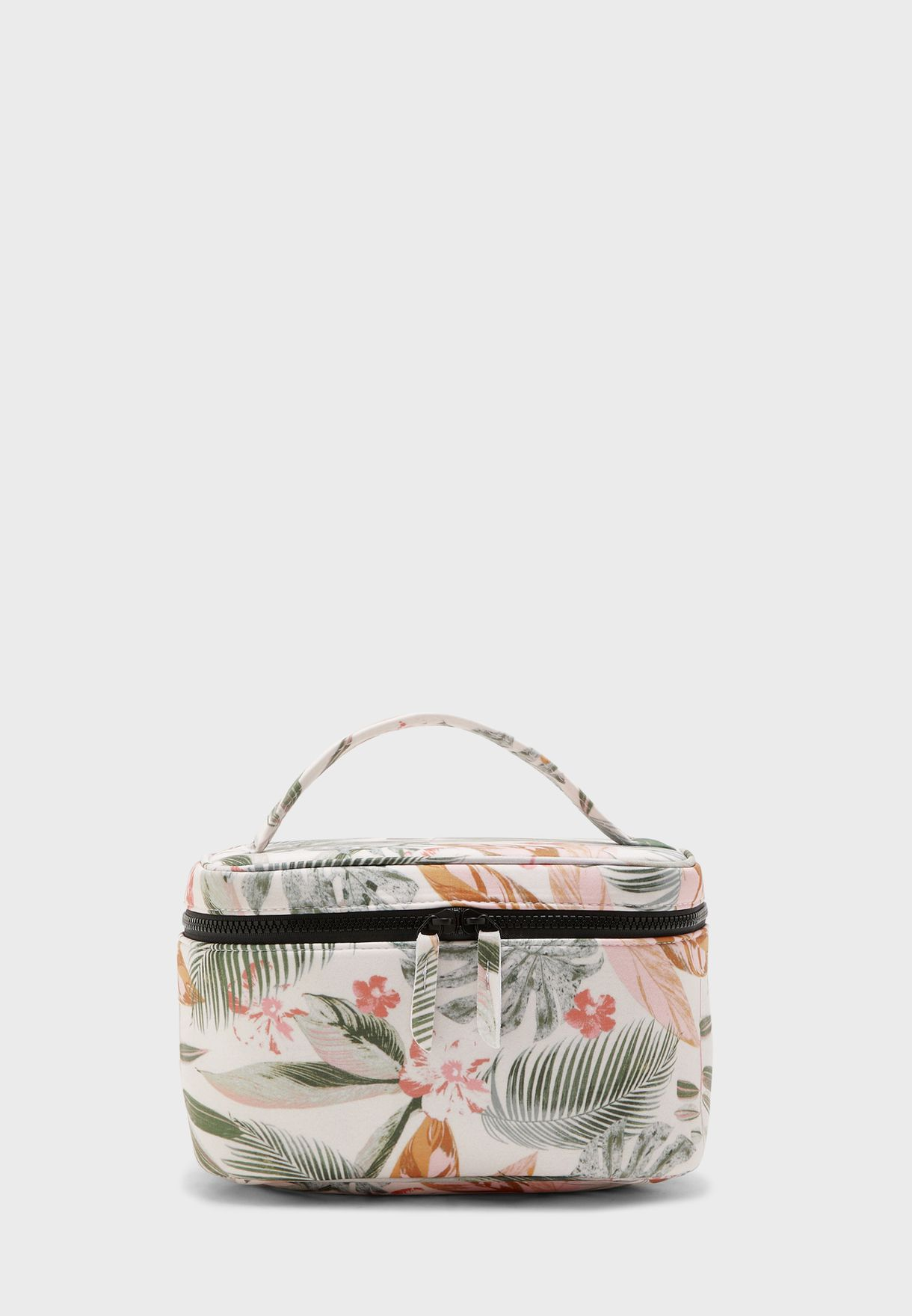Large Tropical Floral Cosmetic Case