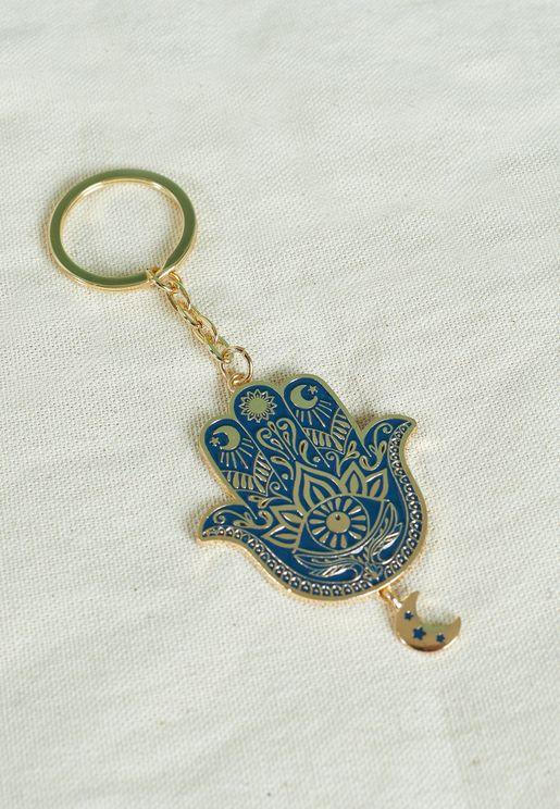 Hamsa Hand Keyring