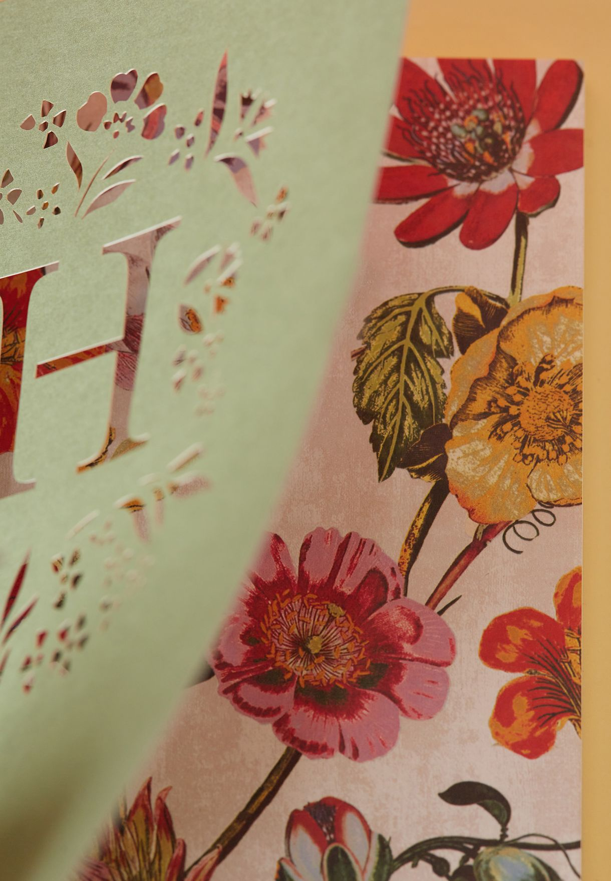 H-Initial Gardenia Monogram Journal